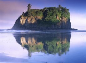 Tim Fitzharris - Abbey Island looms over Ruby Beach, Olympic National Park, Washington