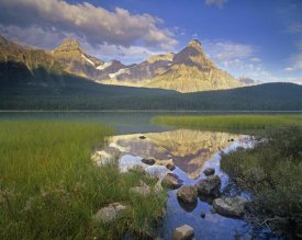 Tim Fitzharris - Howse Peak and Mount Chephren, Waterfowl Lake, Banff National Park, Alberta, Canada