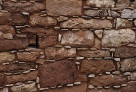 Wil Meinderts - Detail of wall in the Square Tower Ruins, Anasazi Ruins, Hovenweep National Monument, Utah
