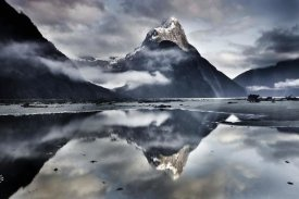 Colin Monteath - Mitre Peak reflecting in Milford Sound in winter at dawn, Fiordland National Park, New Zealand
