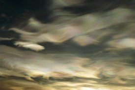 Keith-Nels Swenson - Nacreous Mother of Pearl' clouds seen over Ross Island in late winter, early spring, Antarctica