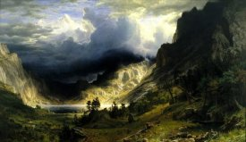 Albert Bierstadt - A Storm in the Rocky Mountains, Mt. Rosalie, 1866