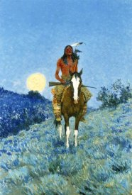 Frederic Remington - The Outlier, 1909