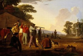 George Caleb Bingham - Shooting for the Beef, 1850