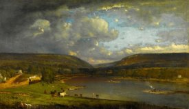 George Inness - On the Delaware River, 1861-1863