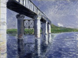 Gustave Caillebotte - The Seine and the Railroad Bridge at Argenteuil (La Seine et le pont du chemin de fer d'Argenteuil), 1885 or 1887