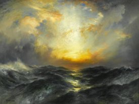 Thomas Moran - Sunset at Sea, 1906