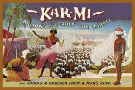 Joseph B. Hallworth - Magicians: Kar-Mi Swallows a Loaded Gun Barrel and Shoots a Cracker from a Man's Head