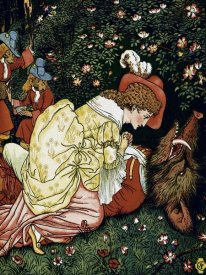 Walter Crane - Beauty and the Beast - In the Woods