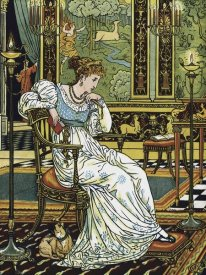 Walter Crane - Hind in the Wood - In Thought