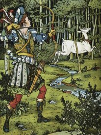 Walter Crane - Hind in the Wood - The Archer