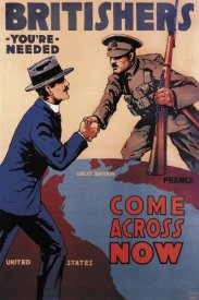 Lloyd Myers - WWI: Britishers: You're Needed: Come Across Now