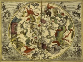 Andreas Cellarius - Maps of the Heavens: Haemisphaerium Stellatum Australe Antiquum