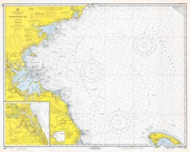 NOAA Historical Map and Chart Collection - Nautical Chart - Massachusetts Bay ca. 1970