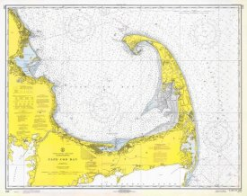 NOAA Historical Map and Chart Collection - Nautical Chart - Cape Cod Bay ca. 1970