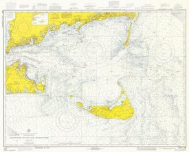 NOAA Historical Map and Chart Collection - Nautical Chart - Nantucket Sound and Approaches ca. 1973