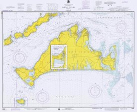 NOAA Historical Map and Chart Collection - Nautical Chart - Marthas Vineyard ca. 1975