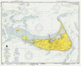 NOAA Historical Map and Chart Collection - Nautical Chart - Nantucket Island ca. 1975