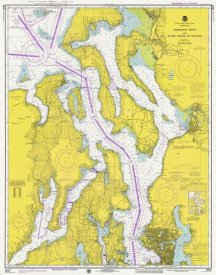 NOAA Historical Map and Chart Collection - Nautical Chart - Admiralty Inlet and Puget Sound to Seattle ca. 1975