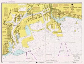 NOAA Historical Map and Chart Collection - Nautical Chart - Los Angeles and Long Beach Harbors ca. 1998