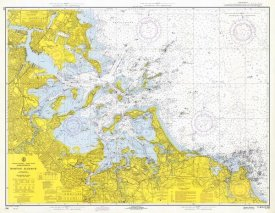 NOAA Historical Map and Chart Collection - Nautical Chart - Boston Harbor ca. 1970