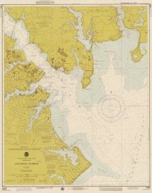 NOAA Historical Map and Chart Collection - Nautical Chart - Annapolis Harbor ca. 1975 - Sepia Tinted