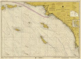NOAA Historical Map and Chart Collection - Nautical Chart - San Diego to Santa Rosa Island ca. 1975 - Sepia Tinted