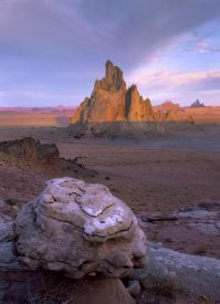 Tim Fitzharris - Church Rock, eroded volcanic plug 300 feet tall, Monument Valley, Arizona
