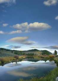Tim Fitzharris - Clouds reflected in river, Salmon River Valley, Idaho