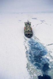 Konrad Wothe - Russian icebreaker breaking through pack ice, Antarctica
