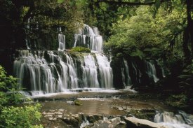 Konrad Wothe - Purakaunui Falls and tropical rainforest, Catlins, South Island, New Zealand