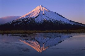 Harley Betts - Winter sunrise over Mt. Taranaki, Egmont National Park, New Zealand