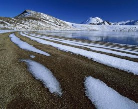 Harley Betts - Snow patterns near Blue Lake, Mount Tongariro, Tongariro NP, New Zealand