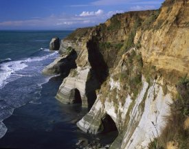 Harley Betts - Sandstone cliffs near the Whitecliffs Walkway, Tongaporutu, New Zealand