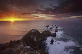 Colin Monteath - Nugget Point lighthouse at sunrise, South Island, New Zealand