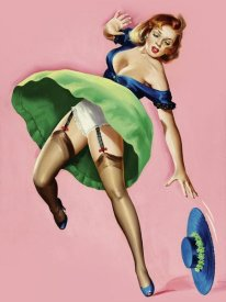 Peter Driben - Mid-Century Pin-Ups - Wink Magazine - Strong Wind