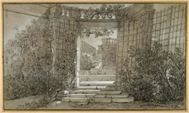 Jean-Baptiste Oudry - Landscape with a Staircase and a Balustrade, ca. 1744-47