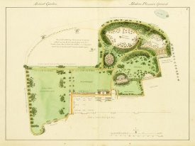 Humphry Repton - Ancient Garden and Modern Pleasure Garden: Plan, 1813