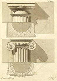 Giuseppe Vannini - Plate 54 for Elements of Civil Architecture, ca. 1818-1850