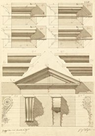 Giuseppe Vannini - Plate 52 for Elements of Civil Architecture, ca. 1818-1850