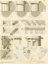 Giuseppe Vannini - Plate 50 for Elements of Civil Architecture, ca. 1818-1850