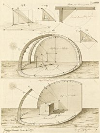 Giuseppe Vannini - Plate 47 for Elements of Civil Architecture, ca. 1818-1850