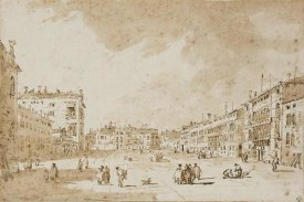 Francesco Guardi - View of Campo San Polo, Venice, ca. 1790