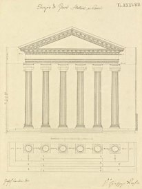 Giuseppe Vannini - Plate 38 for Elements of Civil Architecture, ca. 1818-1850