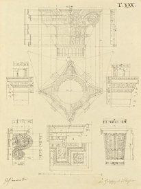 Giuseppe Vannini - Plate 30 for Elements of Civil Architecture, ca. 1818-1850