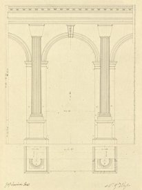 Giuseppe Vannini - Plate 28 for Elements of Civil Architecture, ca. 1818-1850
