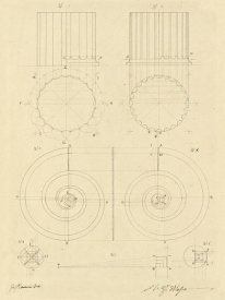 Giuseppe Vannini - Plate 6 for Elements of Civil Architecture, ca. 1818-1850