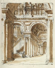Marie-Joseph Peyre - Grand entrance hall, Italy, 1786