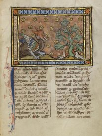 Franco-Flemish 13th Century - A Dragon Charging Two Doves