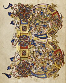 Italian 12th  Century - Inhabited Initial B